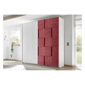 ARMOIRE DE CHAMBRE Armoire SATORI rouge 179 x 205 x 57 cm - Chambres