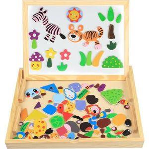 PUZZLE Puzzle en Bois Magnétique enfant Jouets Baby 100 P