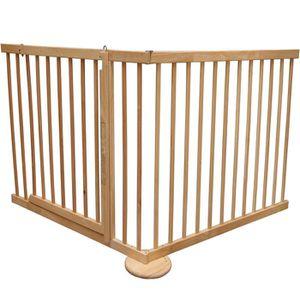 BARRIÈRE DE SÉCURITÉ  Barrière de sécurité Max 120-170cm, en bois, 2 …