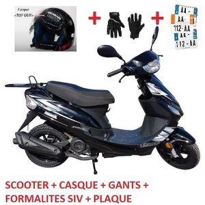 SCOOTER SCOOTER NEUF 50CC AVEC PNEUS SPECIAL PLUIE + CASQU