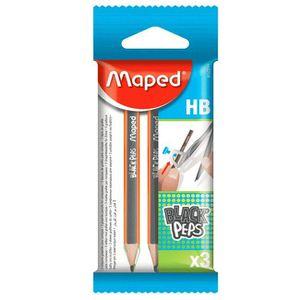 RAPPORTEUR - COMPAS Sachet de 3 mini crayons pour compas MAPED Black'P
