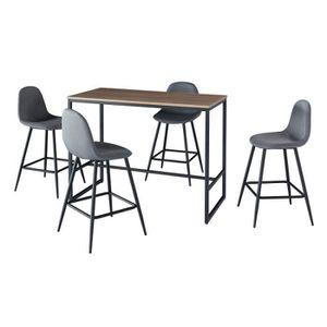 MANGE-DEBOUT Ensemble table haute (mange debout, bar) + 4 chais