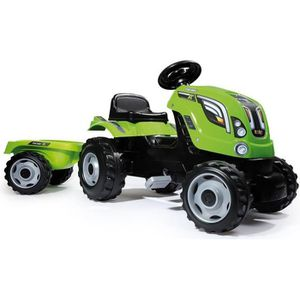 TRACTEUR - CHANTIER SMOBY Tracteur à pédales Farmer XL Vert + Remorque