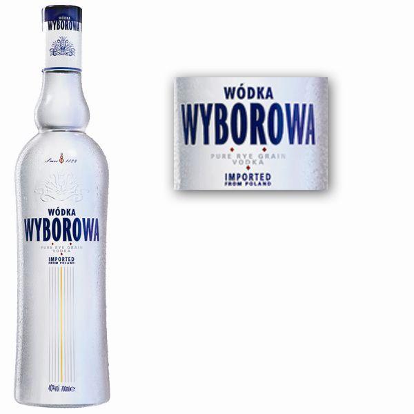 6  verres vodka WYBOROWA