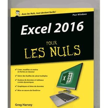 excel 2016 pour les nuls achat vente livre greg harvey. Black Bedroom Furniture Sets. Home Design Ideas