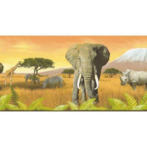 A.S. Création 6901-11 Frise murale, Afrique, Or…