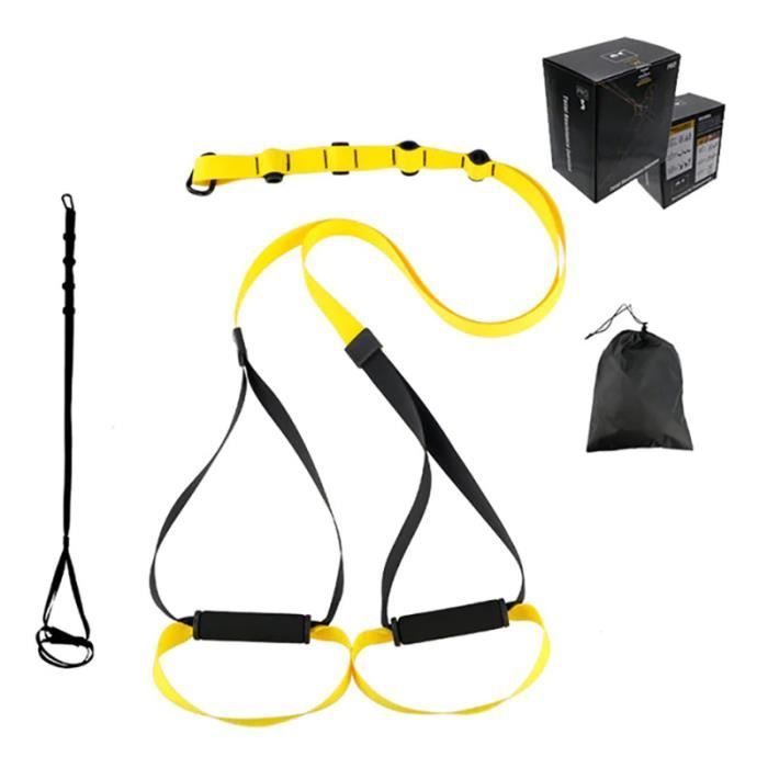 Sangle de Suspension Fitness Kit Entraînement Stretch pour Maison Gym Ceinture d'extension bandes Résistance d'entraînement