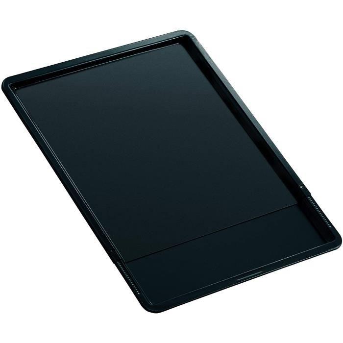 Zenker 6537 Plaque de cuisson extensible, plaque à four universelle, plaque à pâtisserie, Acier inoxydable, Noir, 37 x 33 x 1,5 cm /