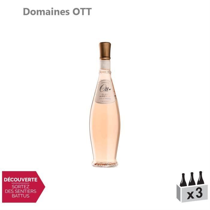 Côtes de Provence Clos Mireille Coeur de Grain Rosé 2019 - Lot de 3x75cl - Domaines OTT - Vin AOC Rosé de Provence - Cépages