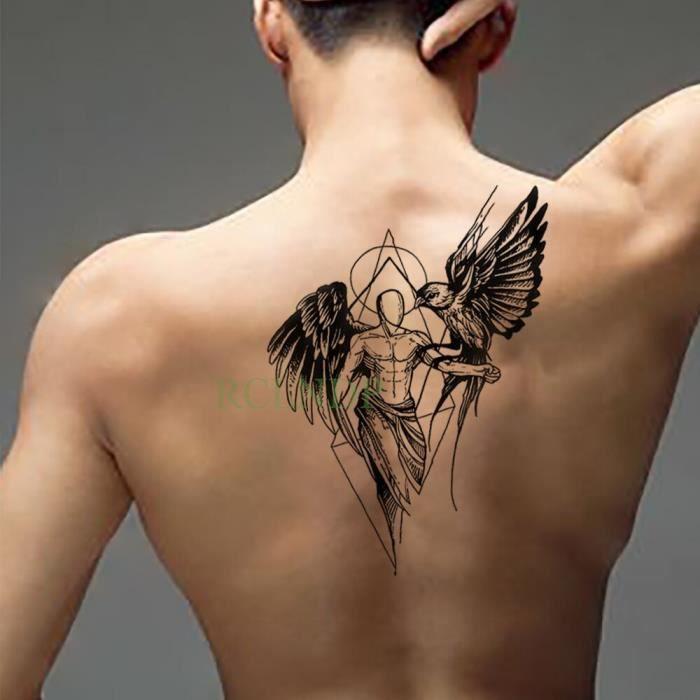 Tatouage éphémère - Vert clair étanche montagne massif image inversée arbre tatto autocollants flash faux s fille femmes enfant 7