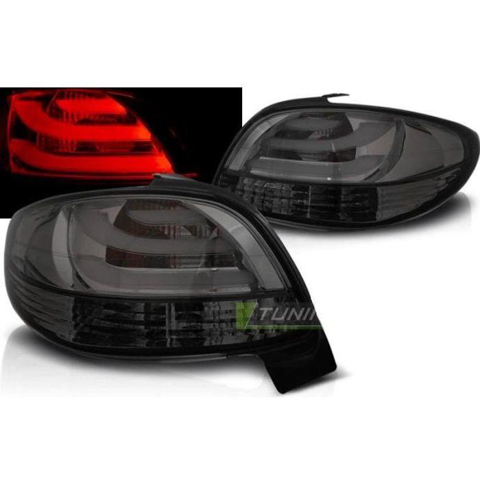 Paire de feux arriere Peugeot 206 98-06 LED BAR fume-27336213