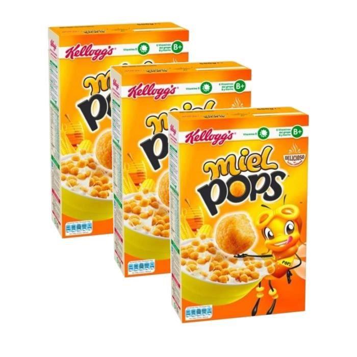 Kellogg's Miel Pops 400g (lot de 3 paquets)