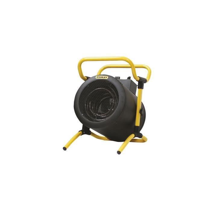 Générateur d'air chaud STANLEY 5000W Professionnel TRI 380V/400V Turbo Electrique reglable à poignée
