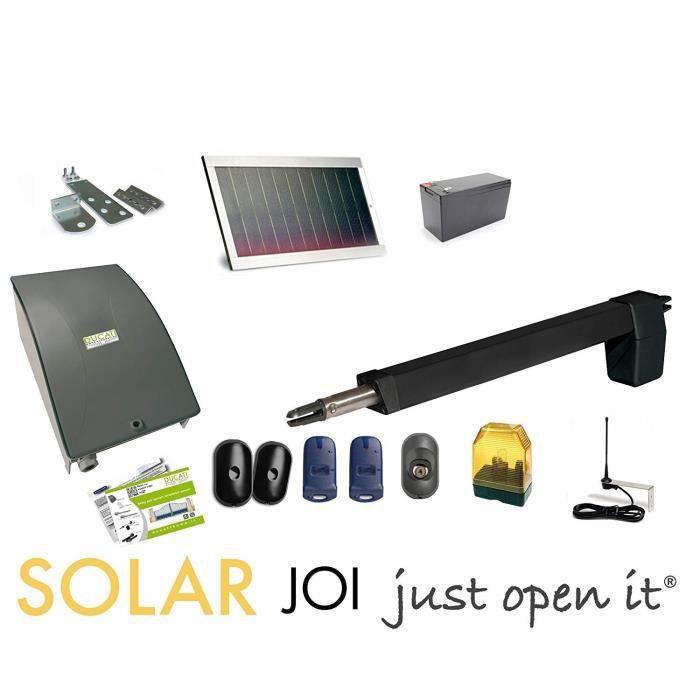 HC812-400 SOLAR MONO automatisme kit motorisation DUCATI HOME pour portail battant Solaire 100% sans fil ouvre portail [Classe énerg