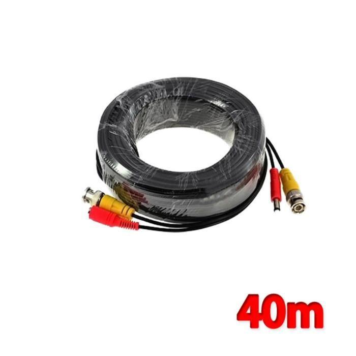 Kabalo 40m câble BNC pour caméra de vidéosurveillance et de surveillance de la sécurité