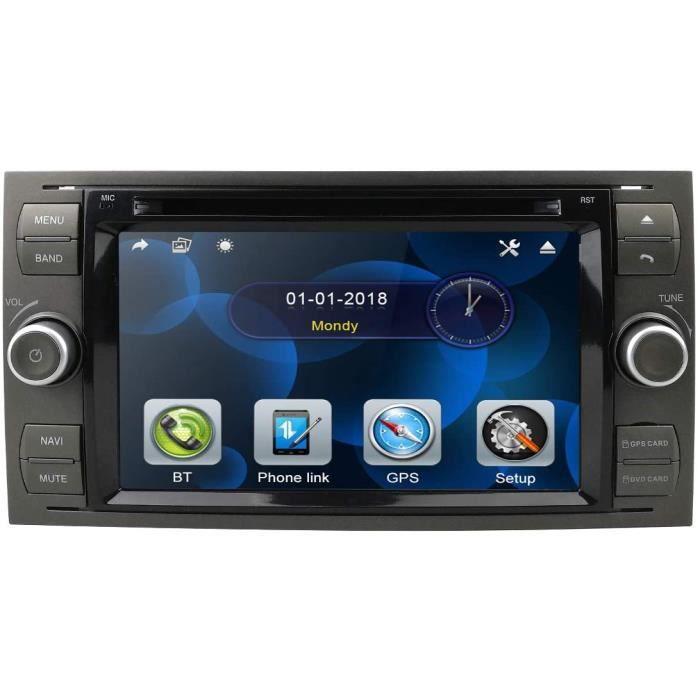 Autoradio Lecteur DVD 2 Din 7 Pouces Autoradio Navigation GPS Skonsole in Dash Headunit pour Ford Focus Support Écran Tactile B[453]