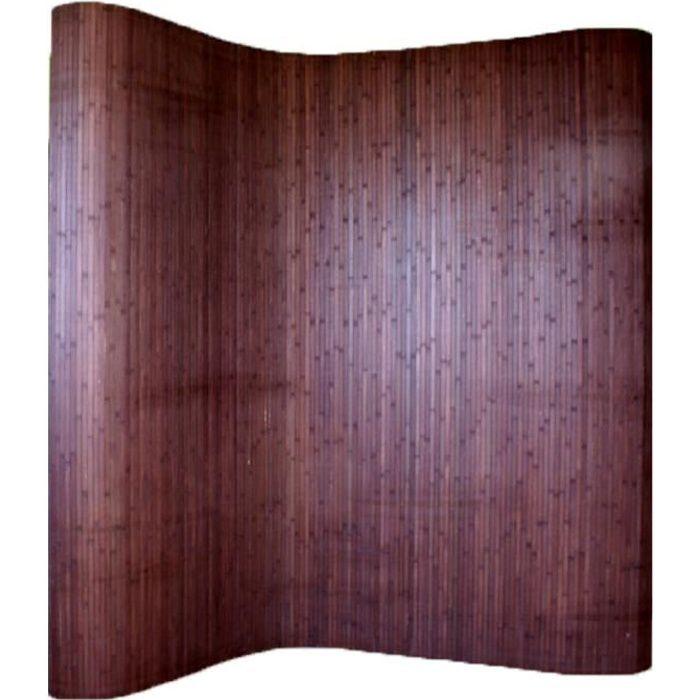 Paravent bambou brun foncé 200 x 250 cm