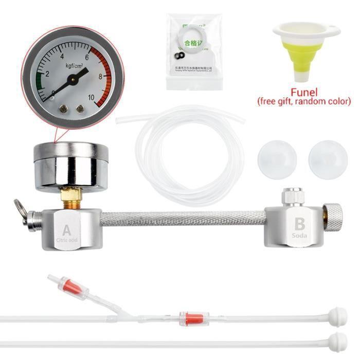 Aquarium,NICREW bricolage CO2 réacteur générateur système Kit pour Aquarium réservoir Co2 régulateur - Type CO2 generator system