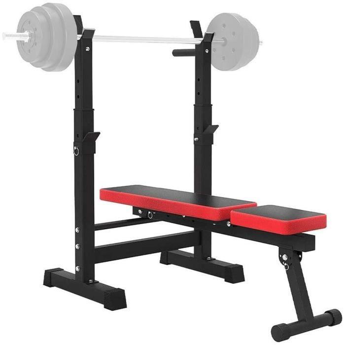 BANC DE MUSCULATION WOERD Banc Musculation Multifonction Pliable, Banc de Musculation Inclinable Declinable pour Barres &agrav479