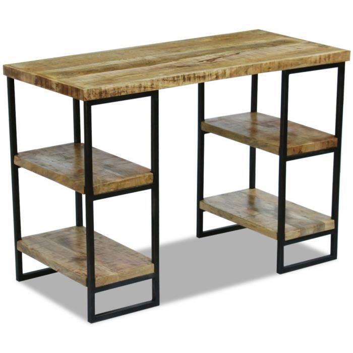 Bureau en bois de manguier 110 x 55 x 76 cm
