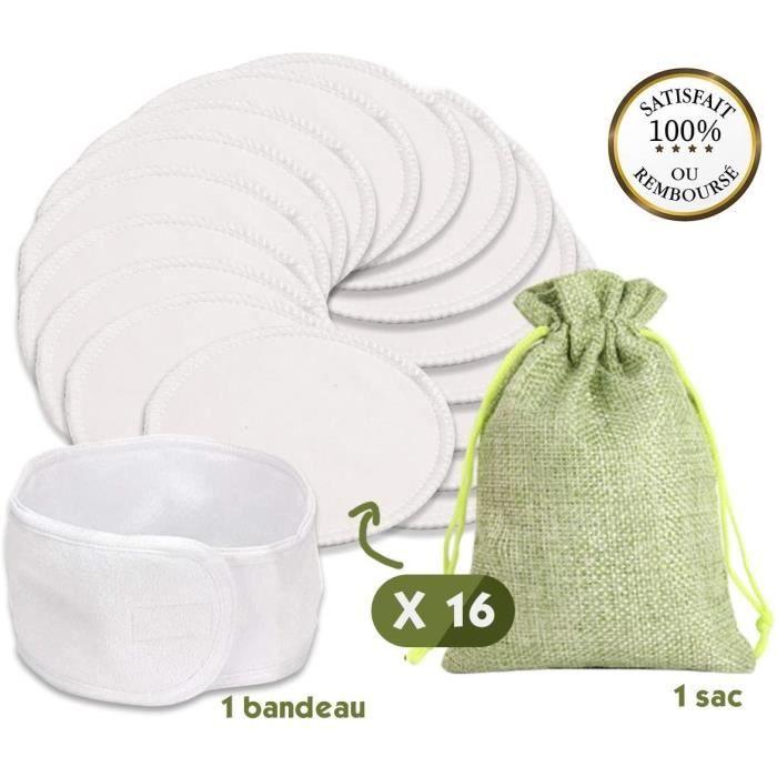 Lingettes et accessoires G.F. Disque Démaquillant Lavable Bio, 16 Coton Démaquillants Lavable, Lingettes Lavable Réutili 666145