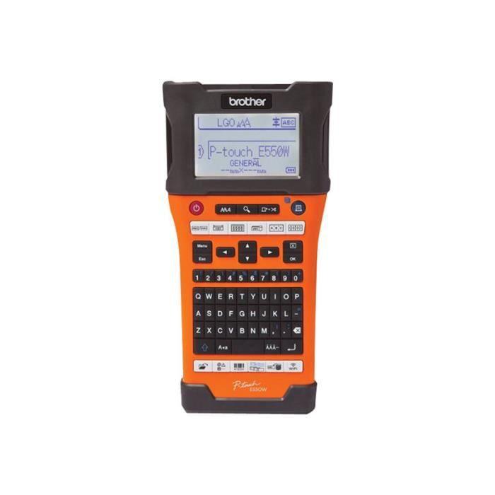Brother P-Touch PT-E550WVP Étiqueteuse monochrome transfert thermique Rouleau (2,4 cm) 180 x 180 ppp jusqu'à 30 mm-sec USB 2.0,…