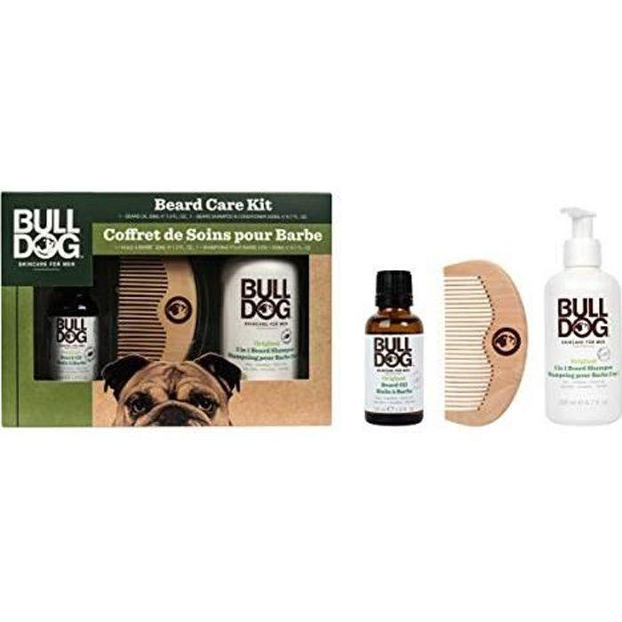 BULLDOG Coffret Soin de la barbe - Pour les hommes - Contient des ingrédients naturels - Sans colorants artificiels