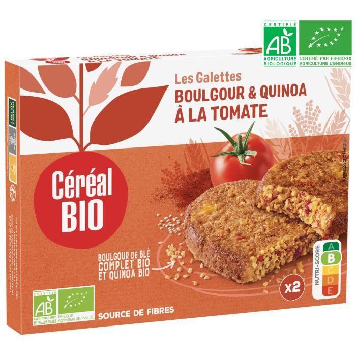 CEREAL BIO Galettes de céréales cuisinées à base de boulghour, de quinoa et de tomate Bio - 200 g