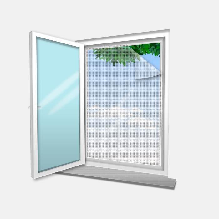 Voile Moustiquaire pour fenêtre 100x100 cm Blanc (lot de 4 pc)