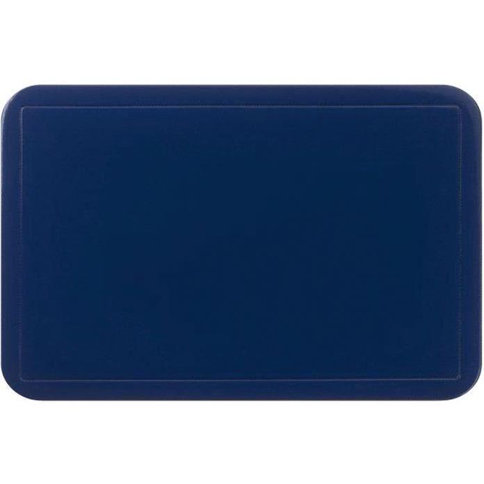 Set de table uni - 43,5x28,5 cm - bleu foncé