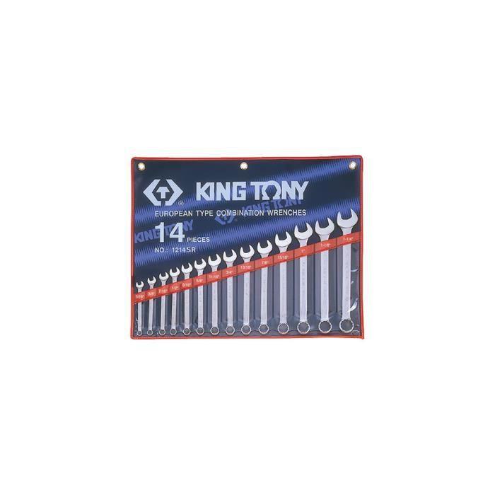 Trousse de 14 clés mixtes en pouces - 5-16- à 1-1-4-