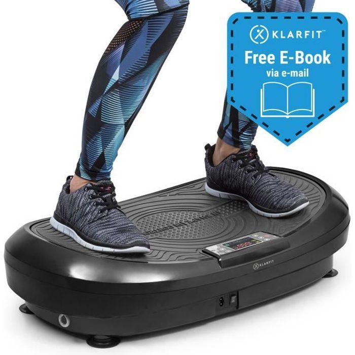 Klarfit VIBE 4DX plateforme vibrante & oscillante cardio fitness avec Ecran d´affichage LCD - 10 modes & 30 vitesses - 440W - gris