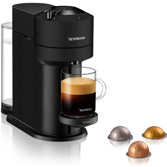 KRUPS YY4606FD Vertuo Next noir mat, 1,1 L, Machine expresso Nespresso, Machine à café 5 tailles de tasses