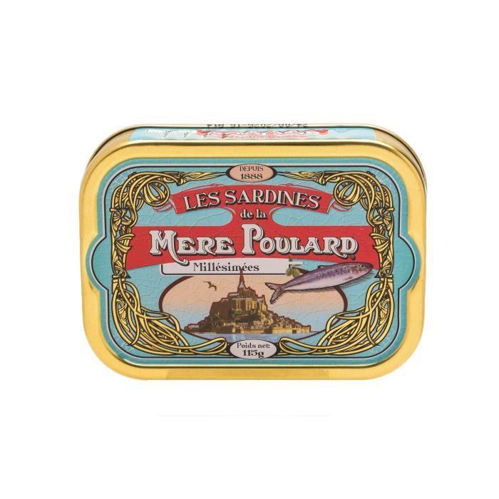 Biscuiterie la Mère Poulard Sardines Millésimées A L'Huile D'Olive (Bleu) 115g