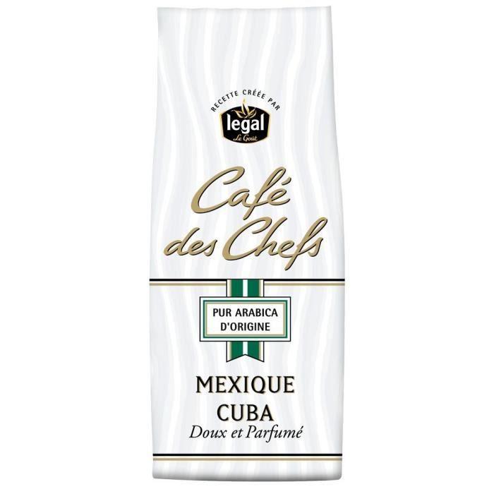 LEGAL Cafés des Chefs Mexique Cuba Moulu - 250 g