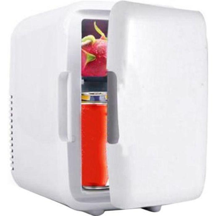 Mini Fridge Réfrigérateur de voiture, Appareils électriques de voiture mini réfrigérateur, 4L réfrigérateur de voiture portable