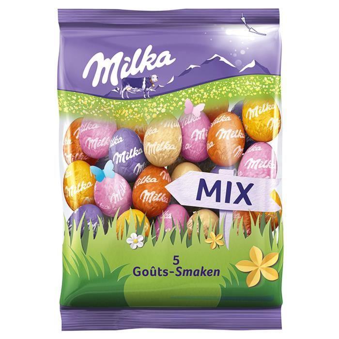 MILKA Chocolat Petits Oeufs Mix 5 Goûts - 350 g