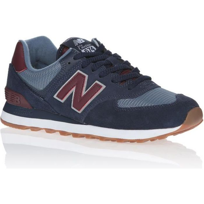 NEW BALANCE Baskets ML574SPO Bleu Marine et Rouge Homme