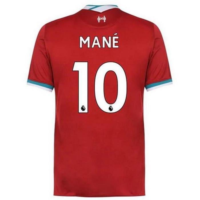 Maillot Homme Nike FC Liverpool Domicile Saison 2020-2021 Flocage Officiel Numéro 10 Mané