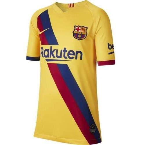 Maillot Football Barcelone FC Exterieur Jaune Enfant 2019/2020 neuf