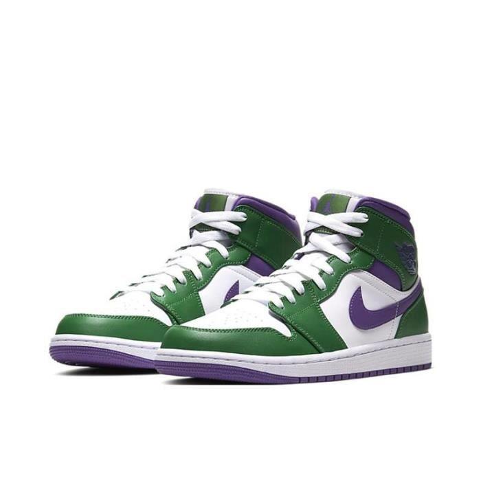 Air Jordan 1 Mid-Incredible Hulk-Chaussures de Sport AJ 1 Pas Cher pour Homme Femme