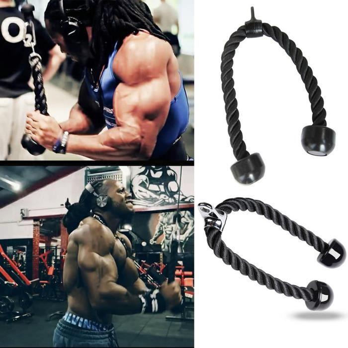 Corde Triceps Corde de Traction Musculation Tricepes Bicepes Accessoire de Tirage Pour Appareil à Poulie Appareil à charege guidée