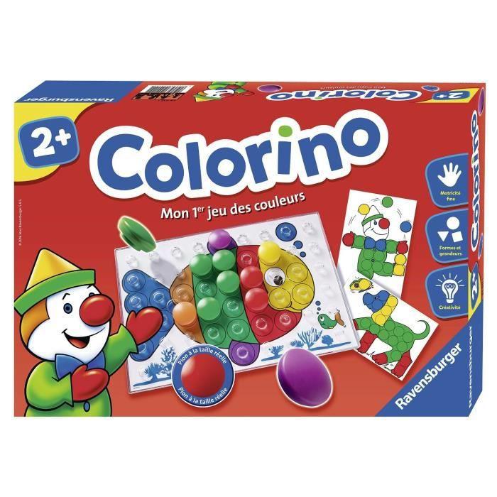 Colorino - Jeu éducatif - Apprentissage des couleurs - Activités créatives enfant - Ravensburger - Dès 2 ans