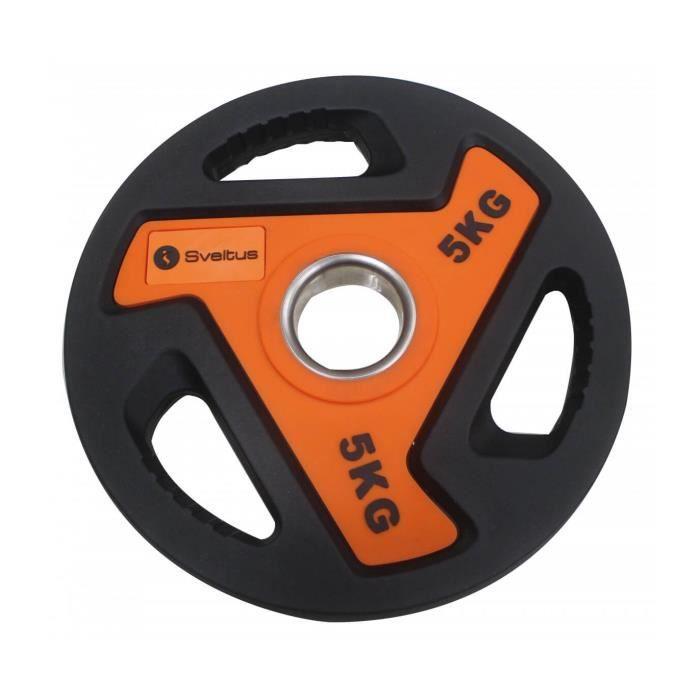 Disque olympique Sveltus 5kg - noir/orange - TU