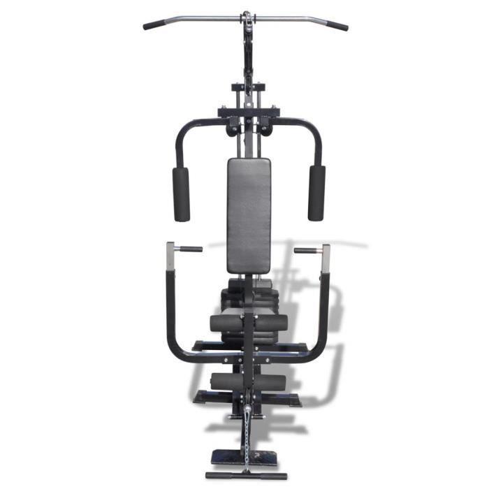 Banc de Musculation/Machines d'haltérophilie/Station de Musculation - Acier - 150 x 99 x 204 cm - noir HAO-9112571326111