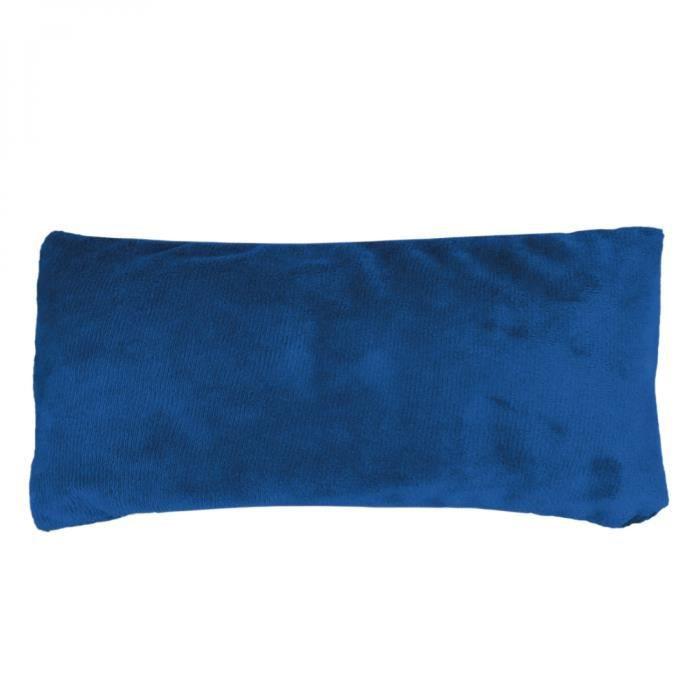 Bouillotte micro-ondes 10 x 22 cm déhoussable pour toutes parties du corps - Bleu
