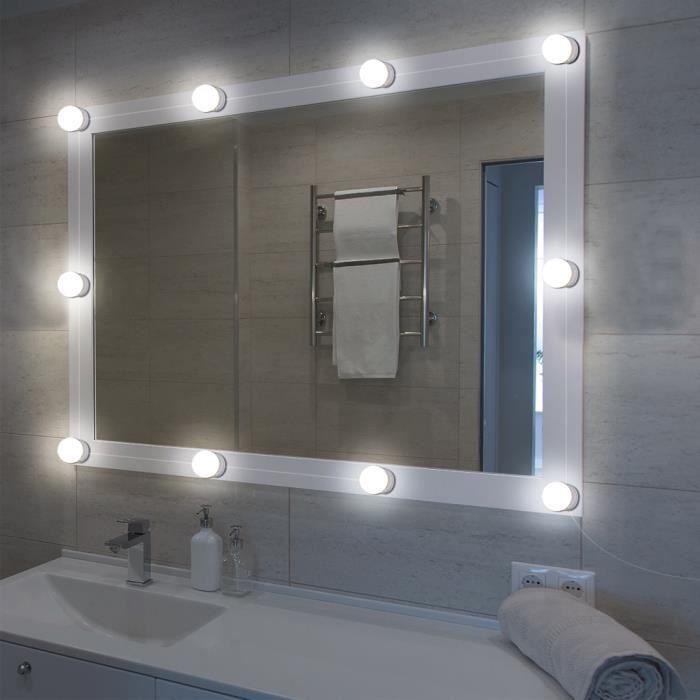 XCSOURCE Ensemble de lumières miroir vanité LED style Hollywood avec ampoules Dimmable, bande luminaire pour table maquillage en ves
