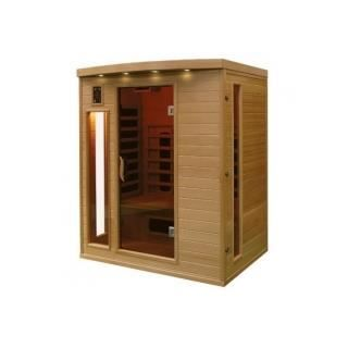 sauna infrarouge bois hemlock astral 3 places achat. Black Bedroom Furniture Sets. Home Design Ideas