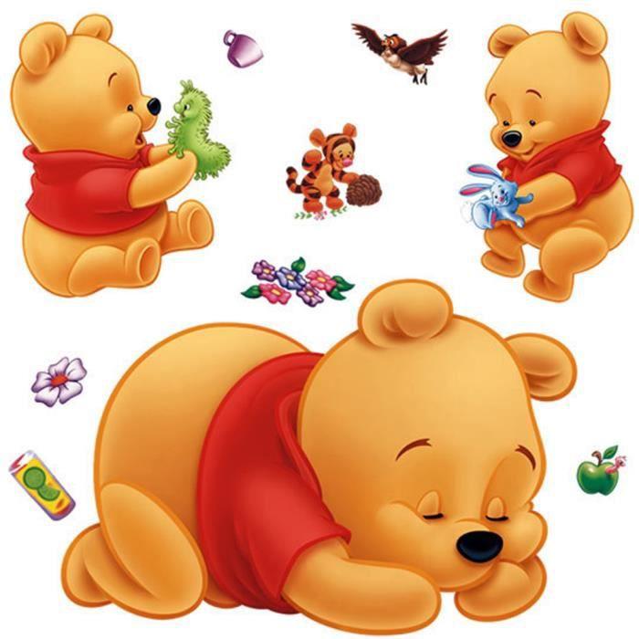 8 cm 1 Sticker Autocollant Baby Bebe Cadeau Naissance Board Winnie Ourson B/éb/é /à Bord