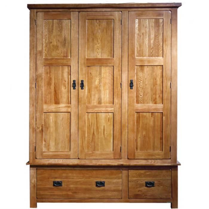 huayi placard en bois massif armoire en ch ne commode avec. Black Bedroom Furniture Sets. Home Design Ideas